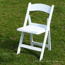 Cadeira dobrável de resina branca para eventos em Commerical