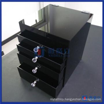 High Quality Custom Made Black Cosmetic Organizer Acrylic
