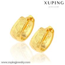 boucles d'oreilles bijoux xuping, boucles d'oreilles de luxe huggie, boucles d'oreilles en or égyptien