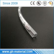 Lumières de la taille adaptées aux besoins du client LED et tube carré de PVC de bande de LED