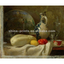 Classical Table Vegetable Bottle Oil Painting