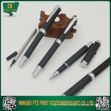 Leather Metal Roller Tip Pen 0.5mm