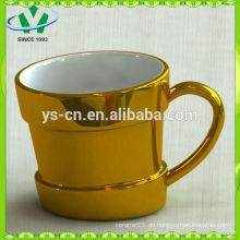2014 heißer Verkauf Luxuxqualitäts vergoldeter keramischer Vase