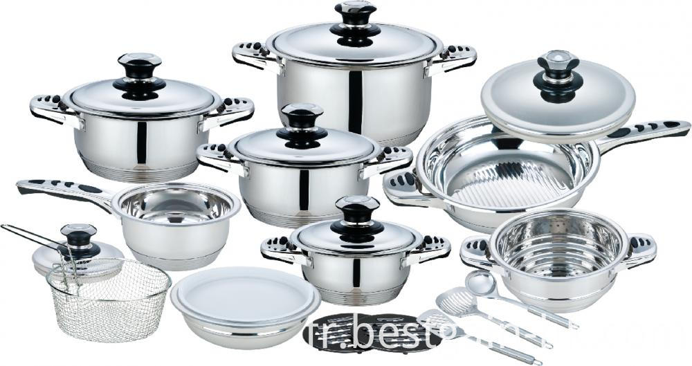 21 pieces wide edge cookware set