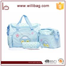 2016 nuevo bolso del pañal del bebé de la llegada, bolso de pañales del bebé de la lona, bolso de la momia