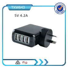 4 USB Ports UK/EU/Au/Us Plugs Wall Charger