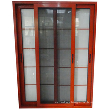 aluminum sliding door with security mosquito proof kingkong screen