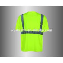 100% polyester sécurité t-shirt vêtement de protection pour homme Sécurité Vêtements en gros