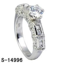 Bijoux fantaisie Bague en argent sterling 925 avec diamants