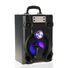 6 inch music speaker, Support USB/ TF card/ Line in/ volumec empty speaker cabinet, portable subwoofer