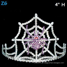Purple Crystal Aranha Web Halloween Coroa