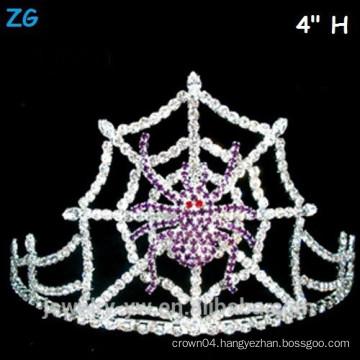 Purple Crystal Spider Web Halloween Crown