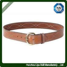 Custom Genuine Leather Fancy Stitch Belt