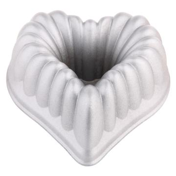die-cast aluminum heart shape crown cake pan