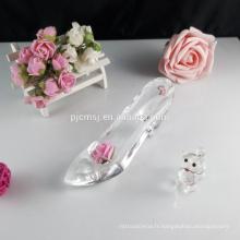 Cadeau de figurine de chaussures de collection en verre cristal GCG-044