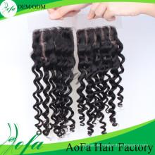 Einfach zu gefärbt Remy indischen Haarteile Lace Closure