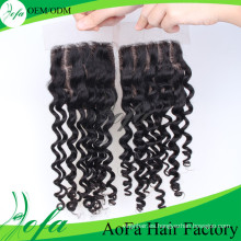 Fácil de teñir Remy Indian Hair Pieces Lace Closure