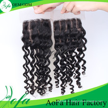 Facile à teindre Remy Indian Hair Pieces Lace Closure