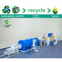 100% favorable à l'environnement 8 / 10T ferraille / déchets en plastique / usine de recyclage de pyrolyse de pneu pour alimenter la machine