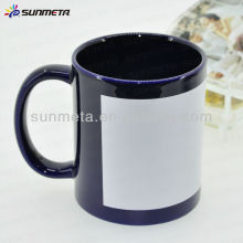 Blank black sublimation ceramic coated patch mug