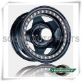 """5 Star-Beadlock Wheels GS-501 Steel Wheel from 15"""" to 17"""" with different PCD, Offset and Vent hole"""