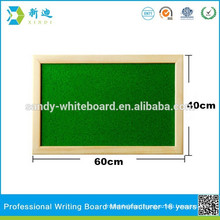 wooden message board hanging message board green surface