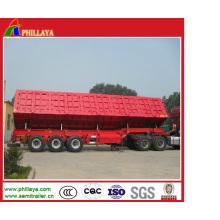 Basculeur hydraulique de remorque de camion de cargaison de basculement d'acier dur