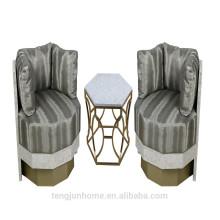 CANOSA Chinês mar shell embutidos madeira sofá mobiliário sala de estar