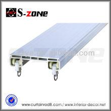 double rail curtain track accessories aluminum and plastic