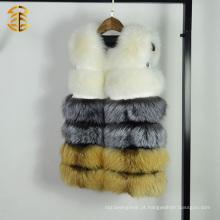 100% Real Genuine Fox Fur Vest Waistcoat Fox Fur Gilet Para Mulheres