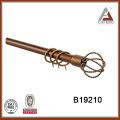 B19210 mordern wrought iron curtain rod finials,decorative curtain rod accessories