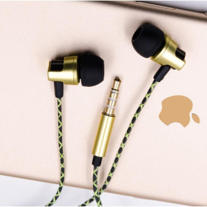 In-ear Wire Earphone Gold color