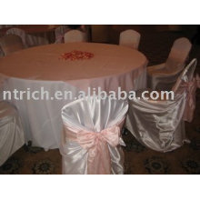 Satin bag chair cover,satin self-tie chair cover,banquet/hotel chair covers