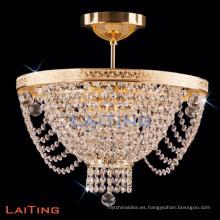 Acabado de oro Easy Fit Moda Sparkly Ceiling Colgante de iluminación Chandelie