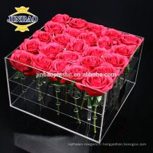 Jinbao Boîte acrylique personnalisée petite boîte-cadeau acrylique