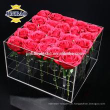 Caixa de presente acrílica pequena da caixa acrílica feita sob encomenda de Jinbao