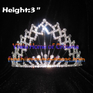 All Clear Crystal Pageant Crowns and Tiaras