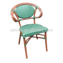 DC-(152) Modern wicker rattan green dining chair/ colorful bamboo chair