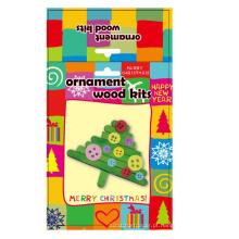 Decoração para crianças de madeira Great Popsicle acessórios de árvore de Natal ornamento artesanal Kit de artesanato DIY