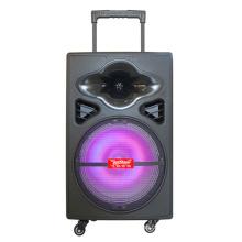 Enceinte de sonorisation portable à piles de 12 po, batterie rechargeable EQ, Bluetooth, MP3, USB, SD, microphones sans fil F12-5