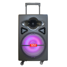 "12"" Portable Battery Powered PA Speaker, Built in EQ Rechargeable Battery, Bluetooth, MP3, USB, SD, Wireless Microphones F12-5"