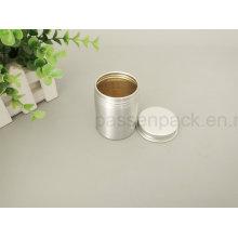 Lata de estanho de alumínio do chá da classe do alimento com tampa do parafuso (PPC-AC-056)