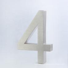Numéro de maison de villa extérieure 3D en acier inoxydable