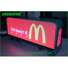 Sinal superior do diodo emissor de luz do táxi para a exposição de diodo emissor de luz superior da parte superior do táxi da propaganda dinâmica