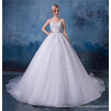 Gorgeous embroidered sweetheart wedding dress 2017