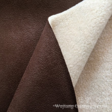 Compound Leather Suede 100% Polyester Home Textile Fabric