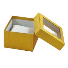 2016 luxo Cuxtom caixa de relógio de papel com janela clara