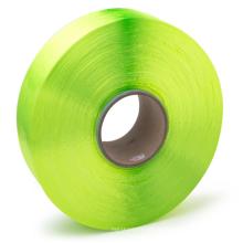 Fil de tissu textile FDY teint vert à haute résistance