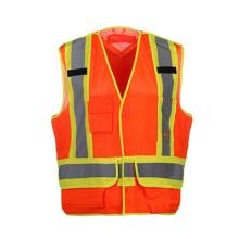Gilets de sécurité réfléchissants de haute qualité avec tissu en maille 100% polyester