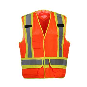 Coletes de segurança reflexivos de alta qualidade com tecido de malha 100% poliéster